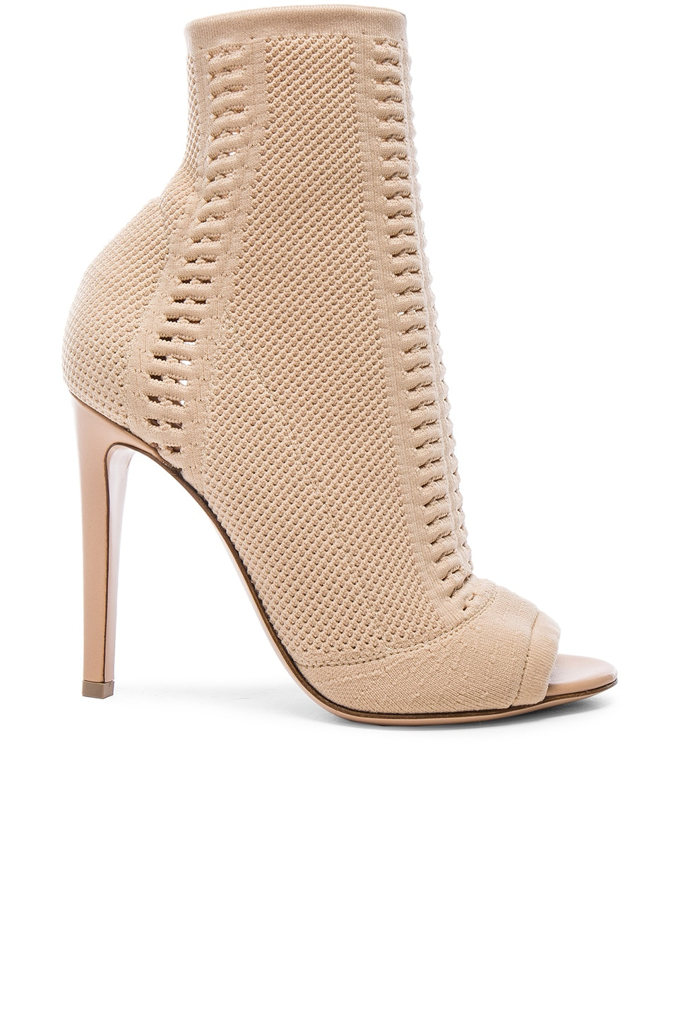 Image 1 of Gianvito Rossi Knit Booties in Nude