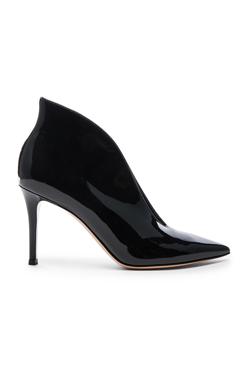 Image 1 of Gianvito Rossi Patent Cut Out Heels in Black