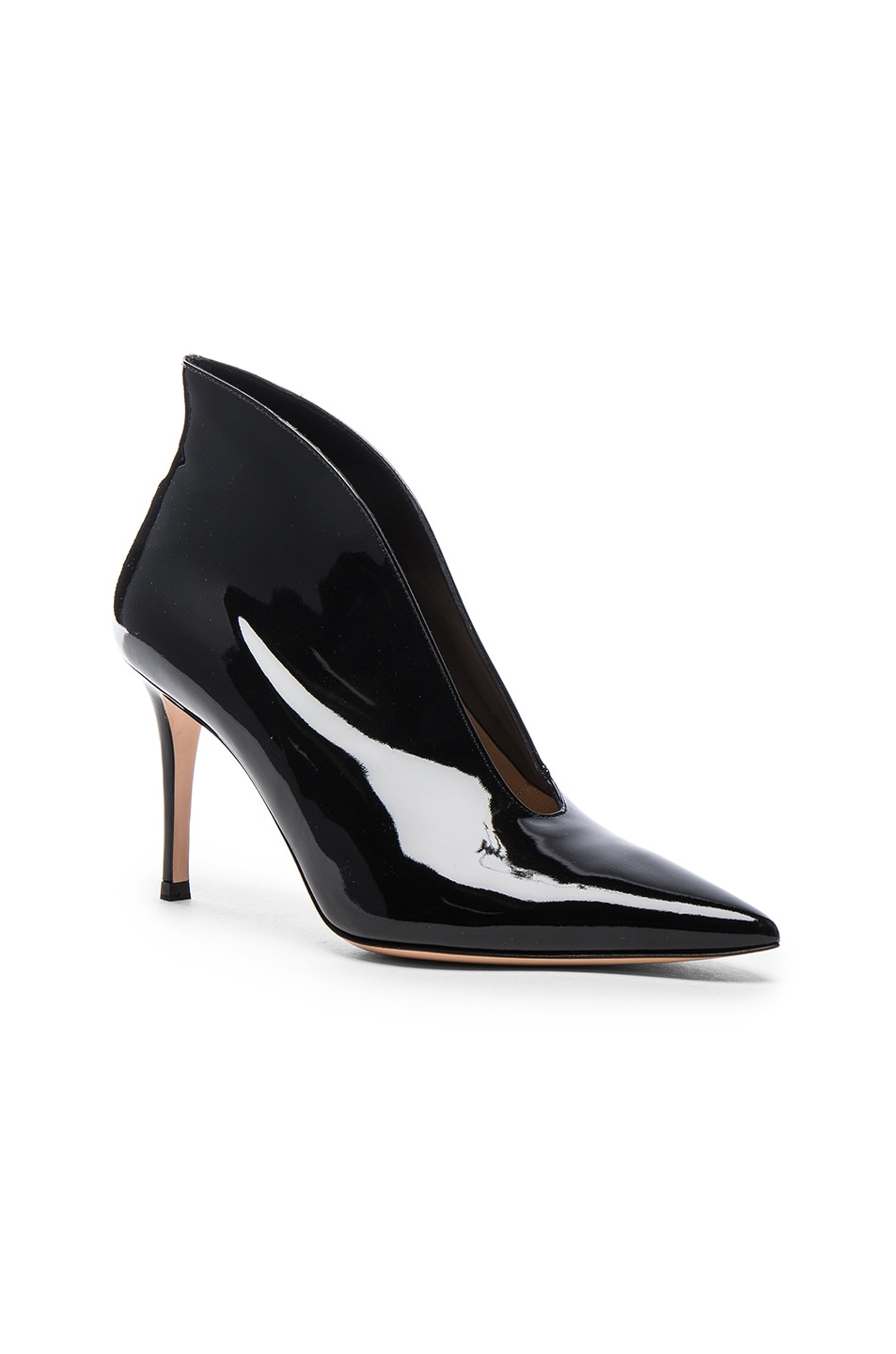 Image 2 of Gianvito Rossi Patent Cut Out Heels in Black