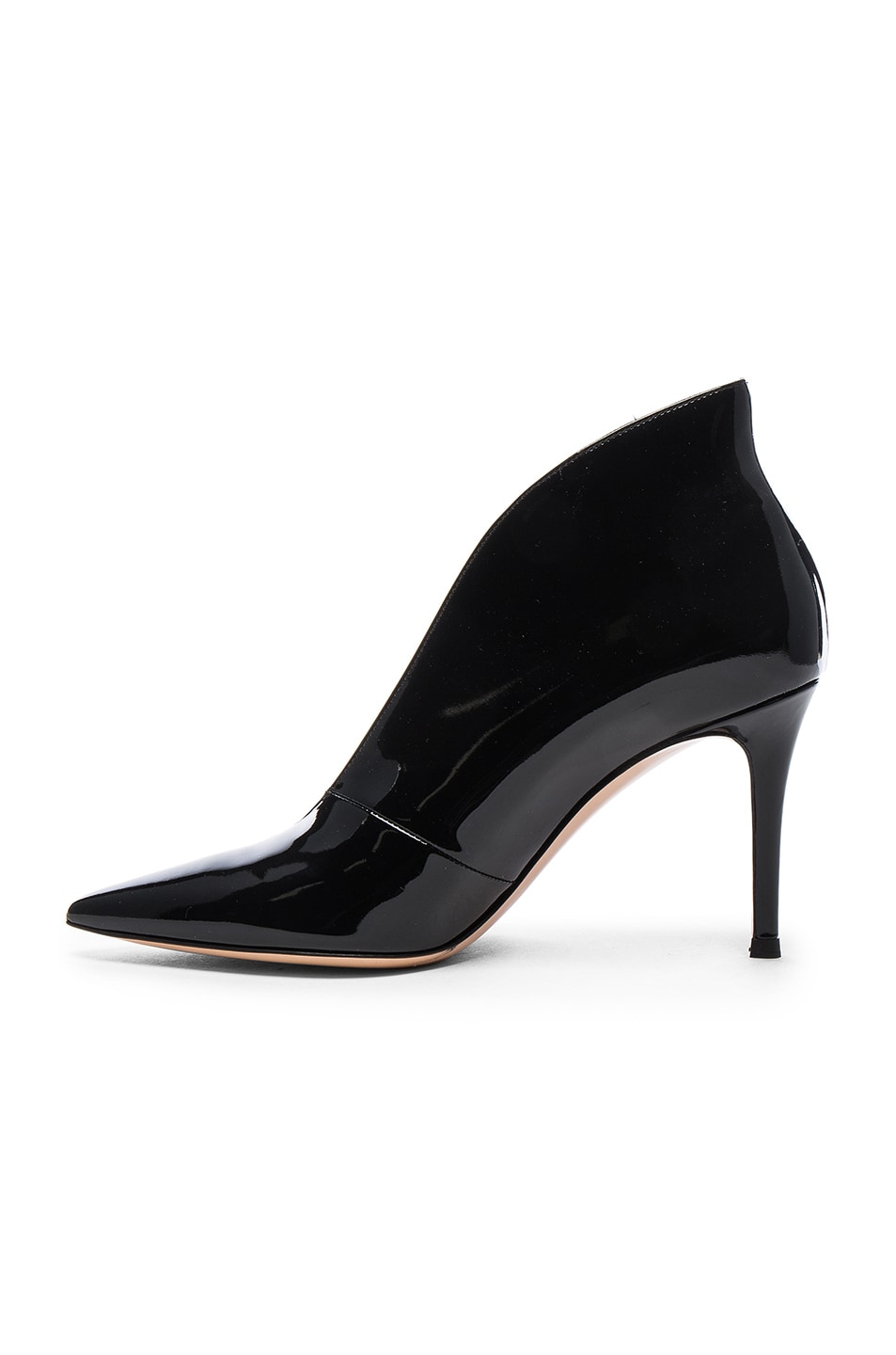 Image 5 of Gianvito Rossi Patent Cut Out Heels in Black