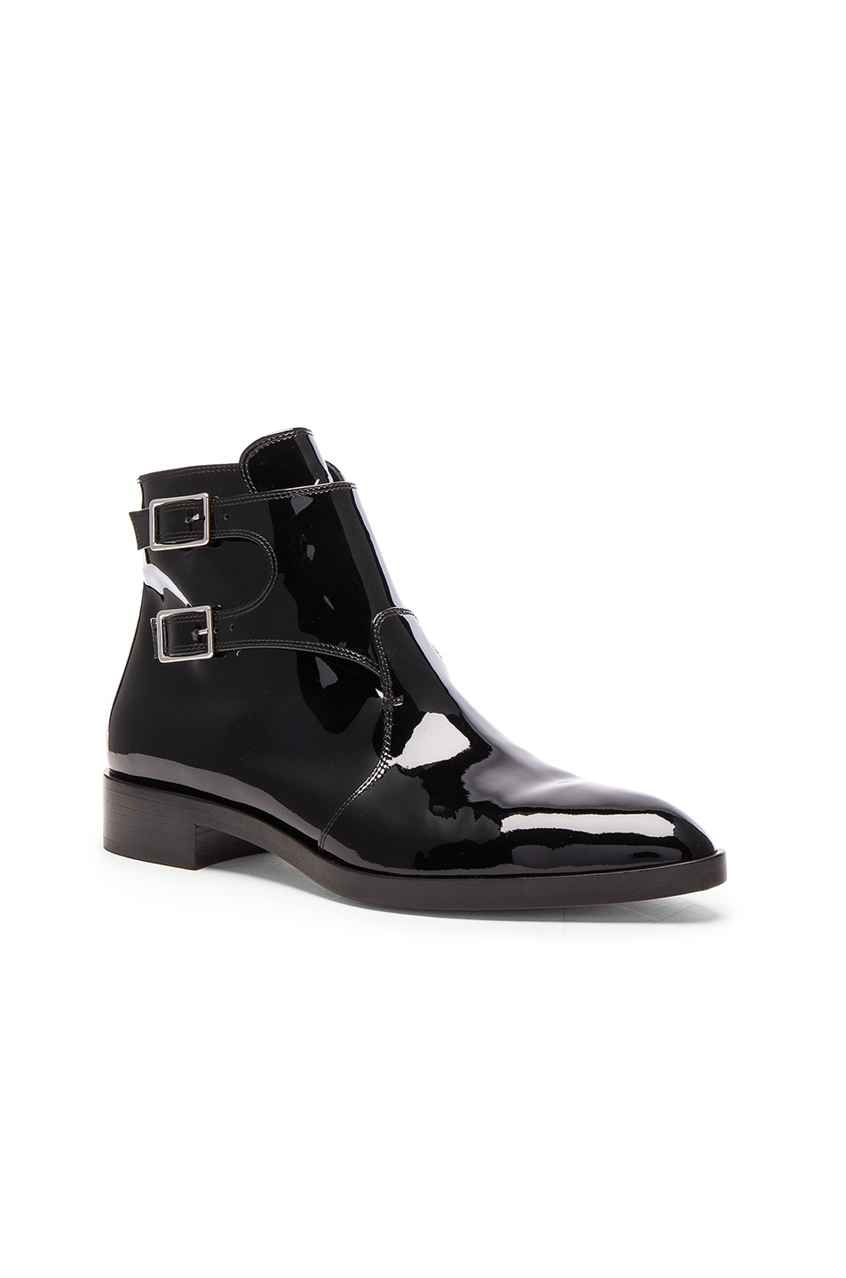 Image 2 of Gianvito Rossi Patent Leather Boots in Black