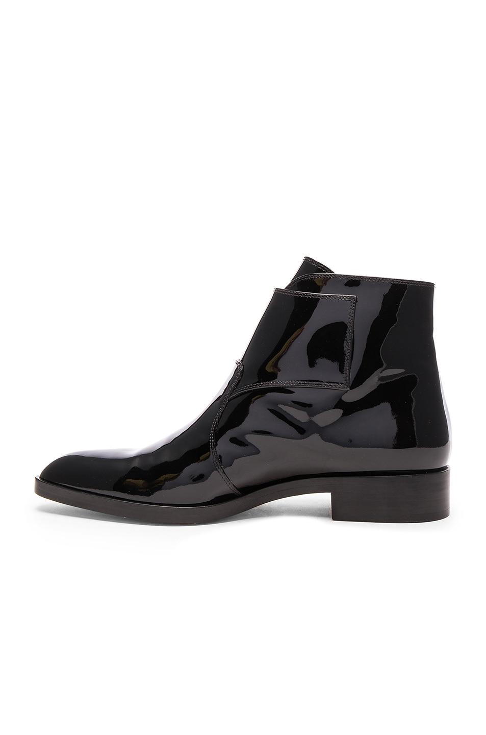 Image 5 of Gianvito Rossi Patent Leather Boots in Black
