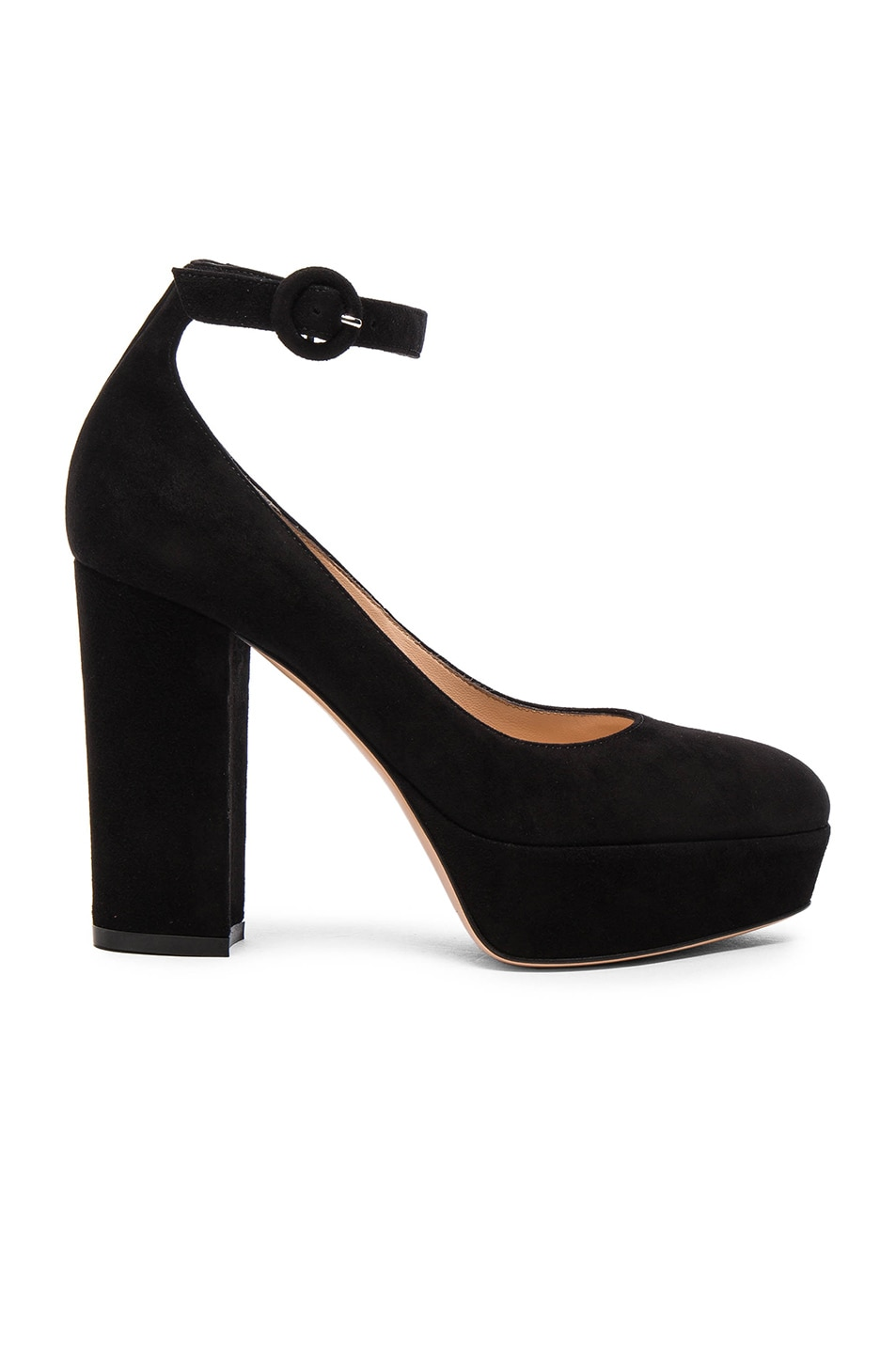Image 1 of Gianvito Rossi Suede Mary Jane Pumps in Black