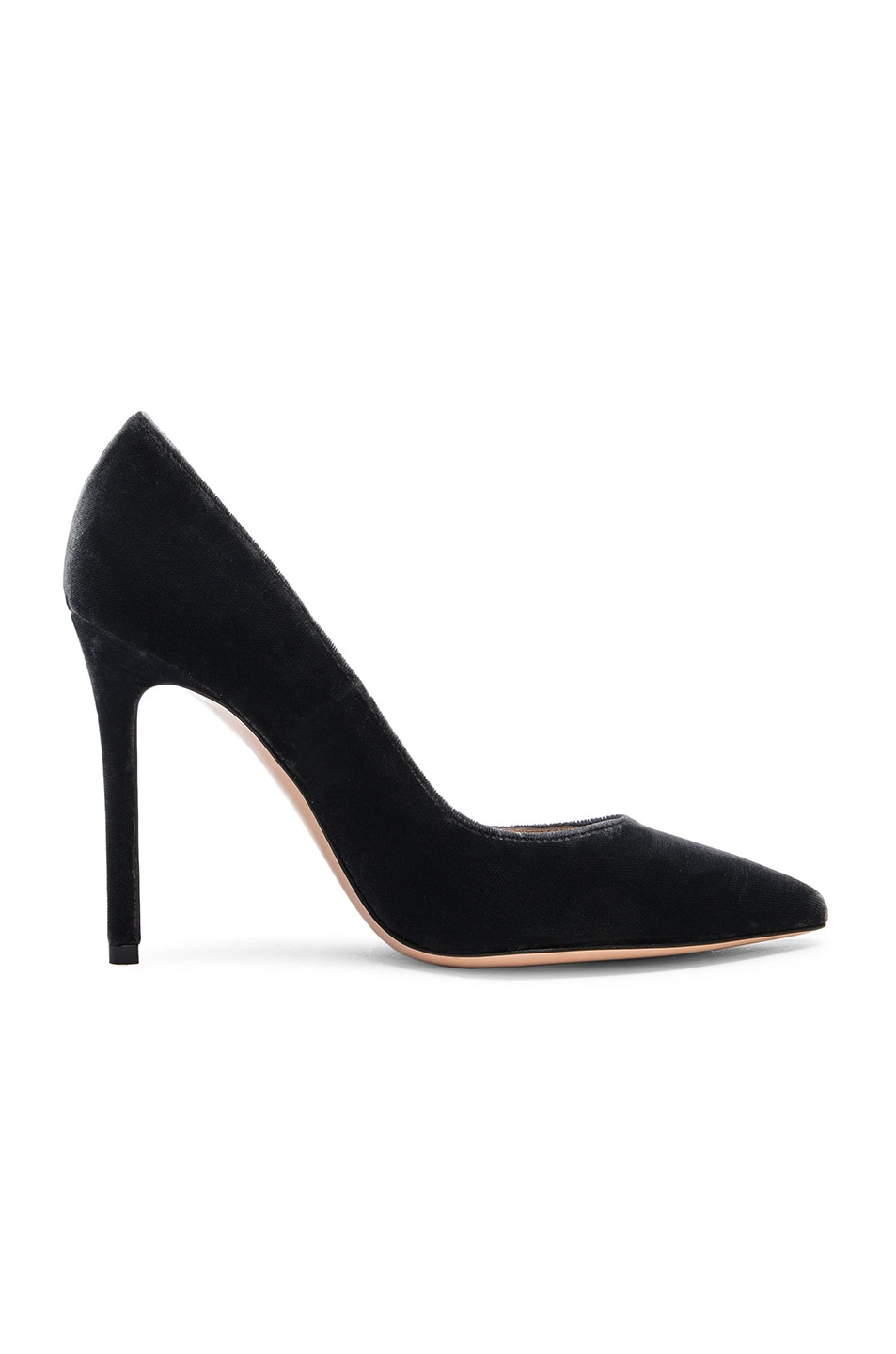 Image 1 of Gianvito Rossi Velvet Pumps in Grey