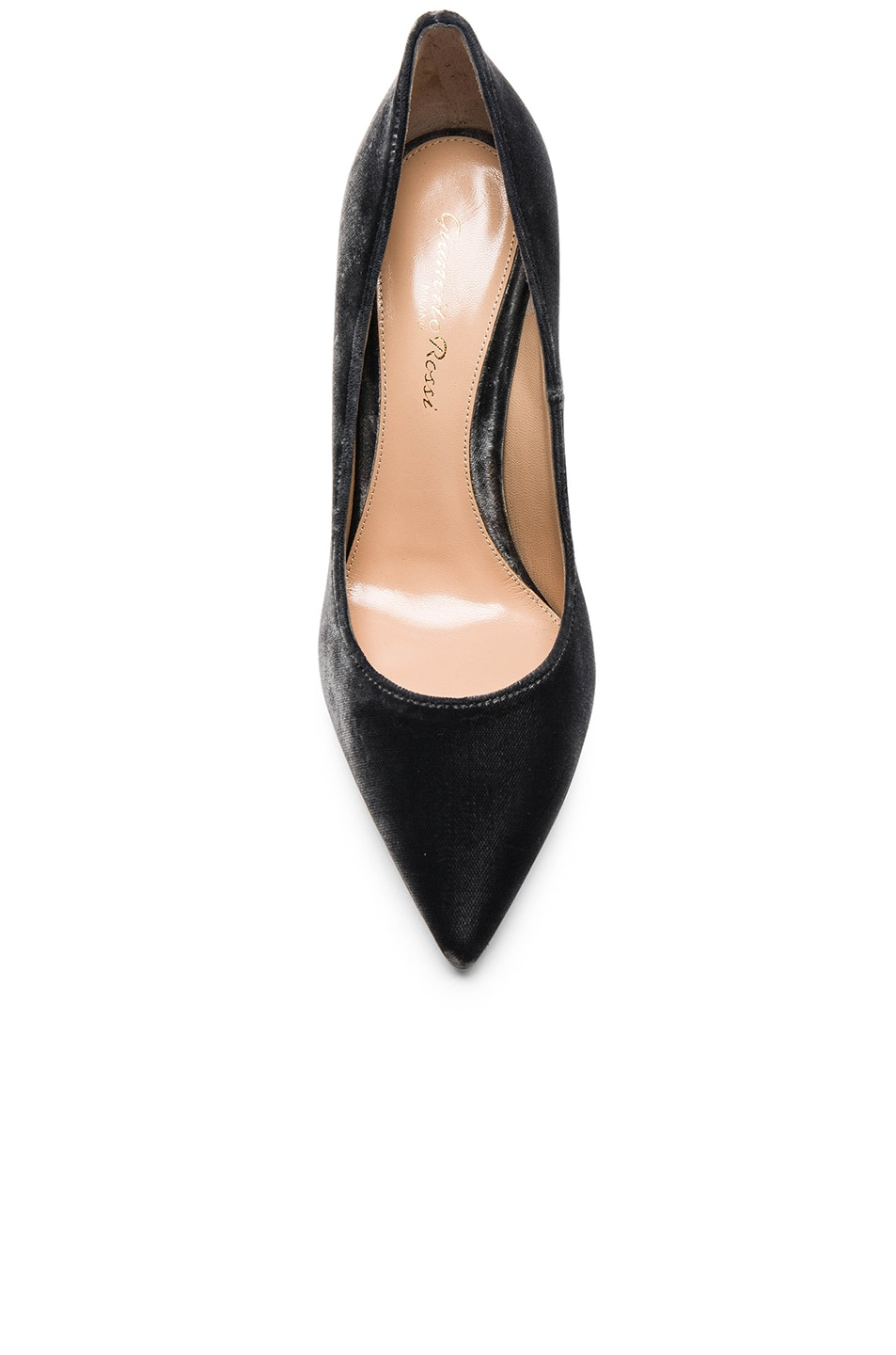 Image 4 of Gianvito Rossi Velvet Pumps in Grey
