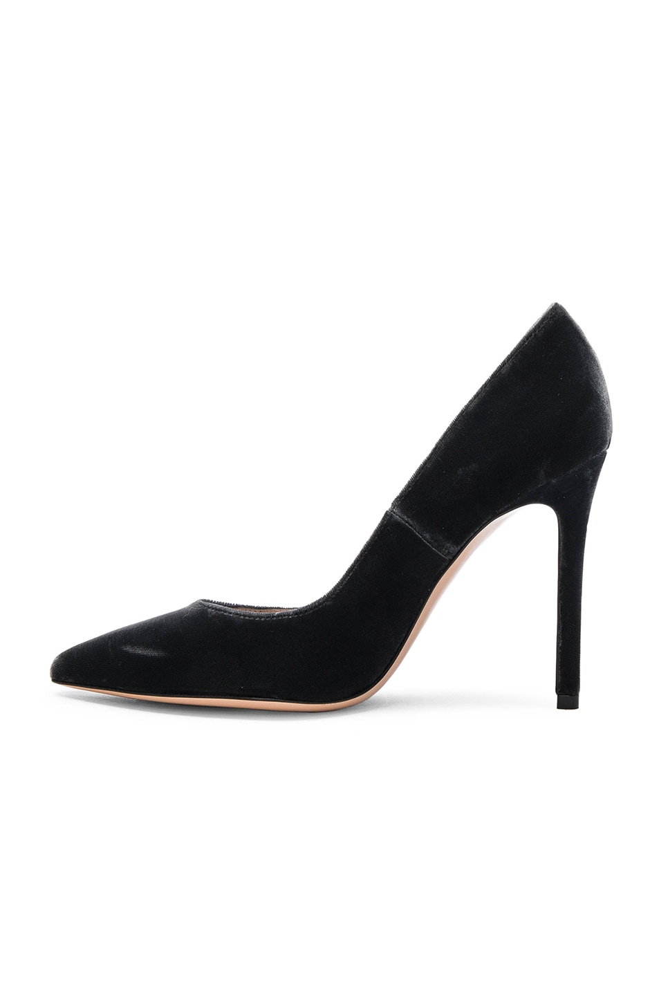 Image 5 of Gianvito Rossi Velvet Pumps in Grey