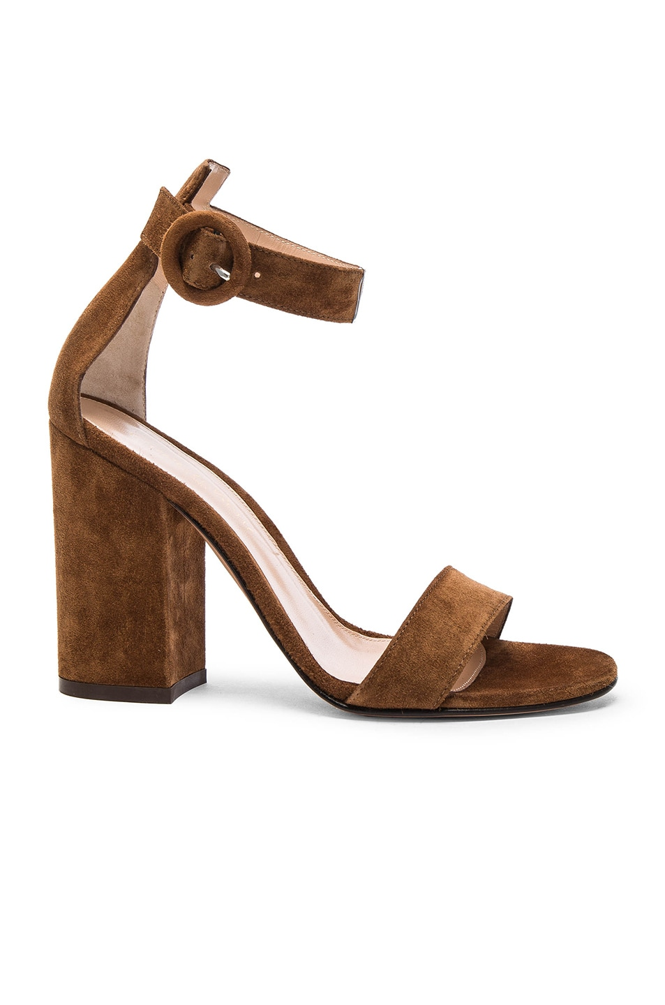 Image 1 of Gianvito Rossi Suede Versilia Block Heels in Texas