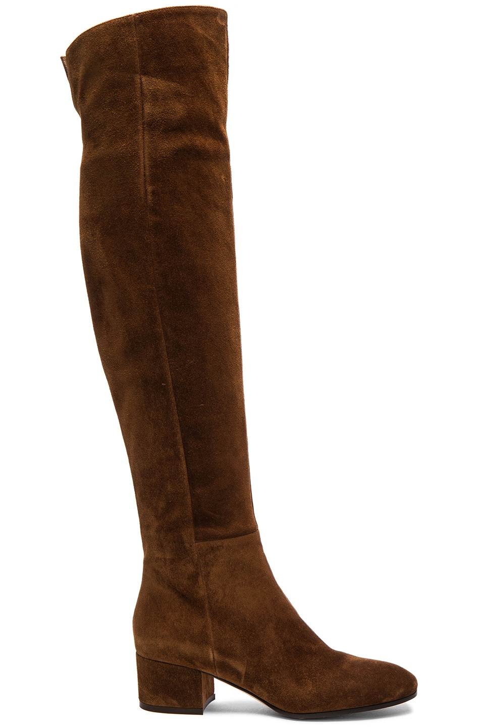 Image 1 of Gianvito Rossi Suede Over The Knee Boots in Texas