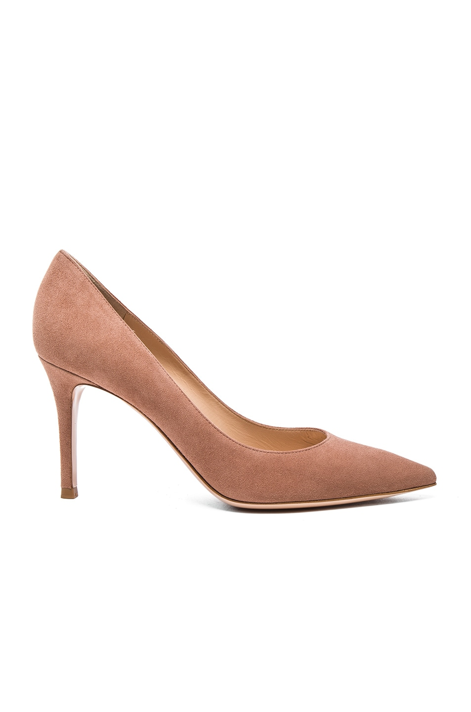 Image 1 of Gianvito Rossi Suede Gianvito Heels in Praline