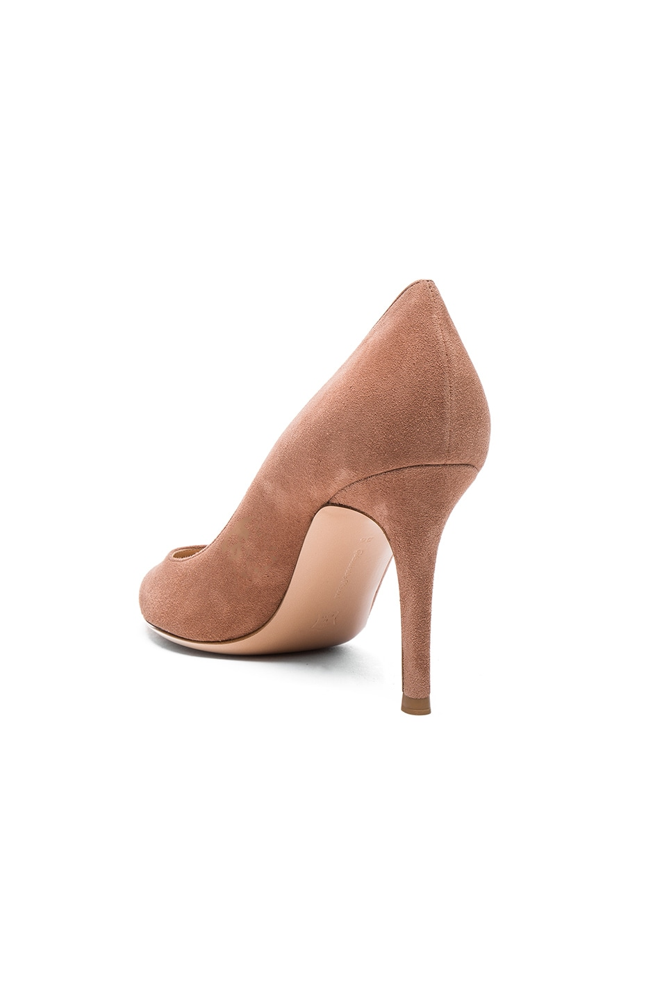 Image 3 of Gianvito Rossi Suede Gianvito Heels in Praline
