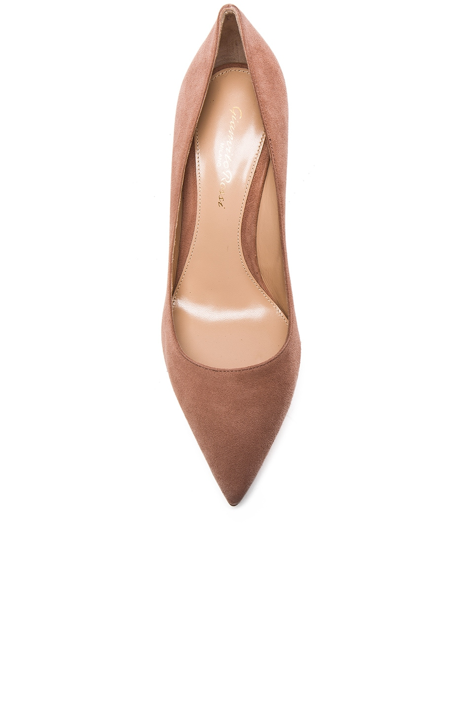 Image 4 of Gianvito Rossi Suede Gianvito Heels in Praline