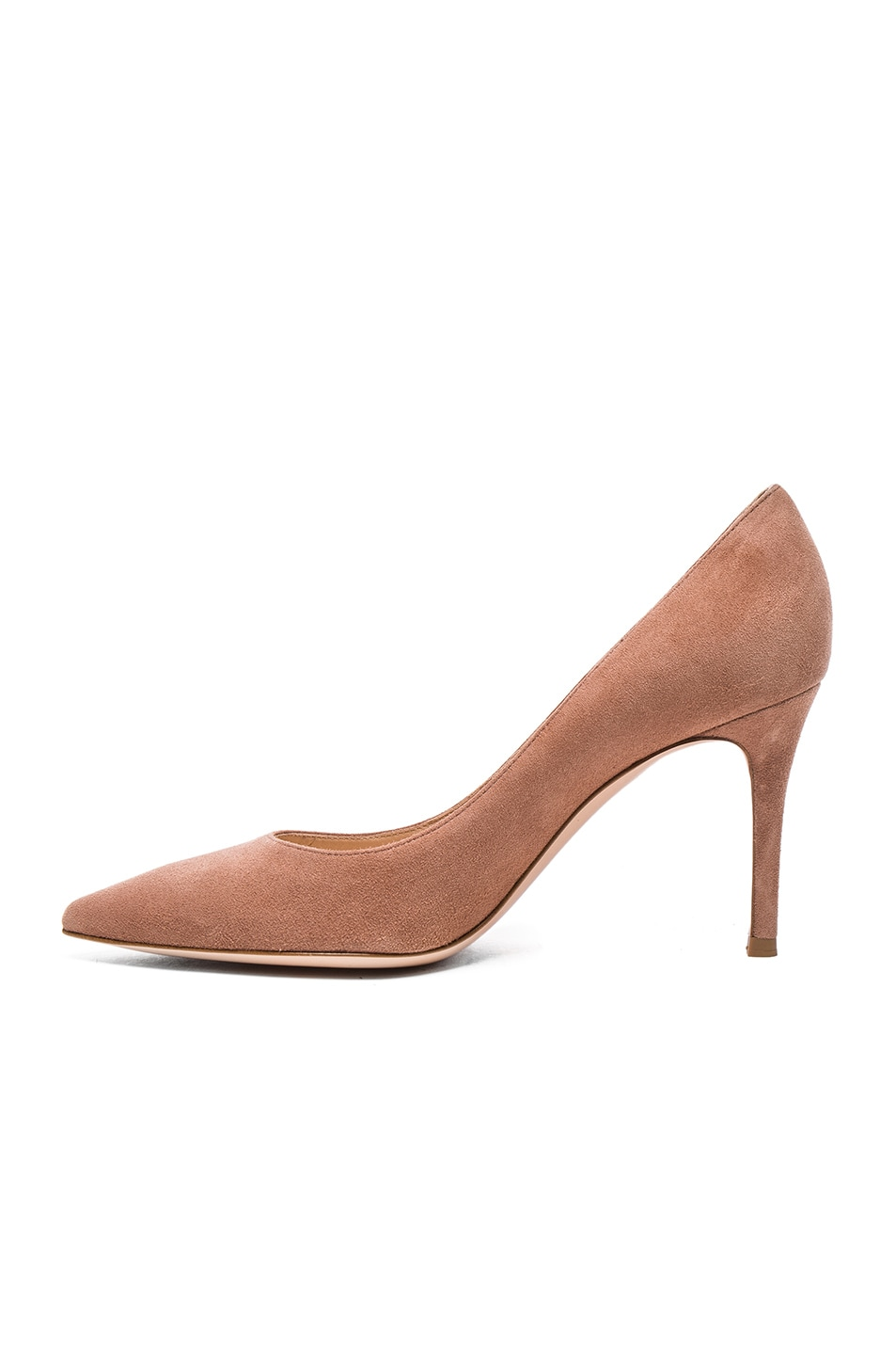 Image 5 of Gianvito Rossi Suede Gianvito Heels in Praline