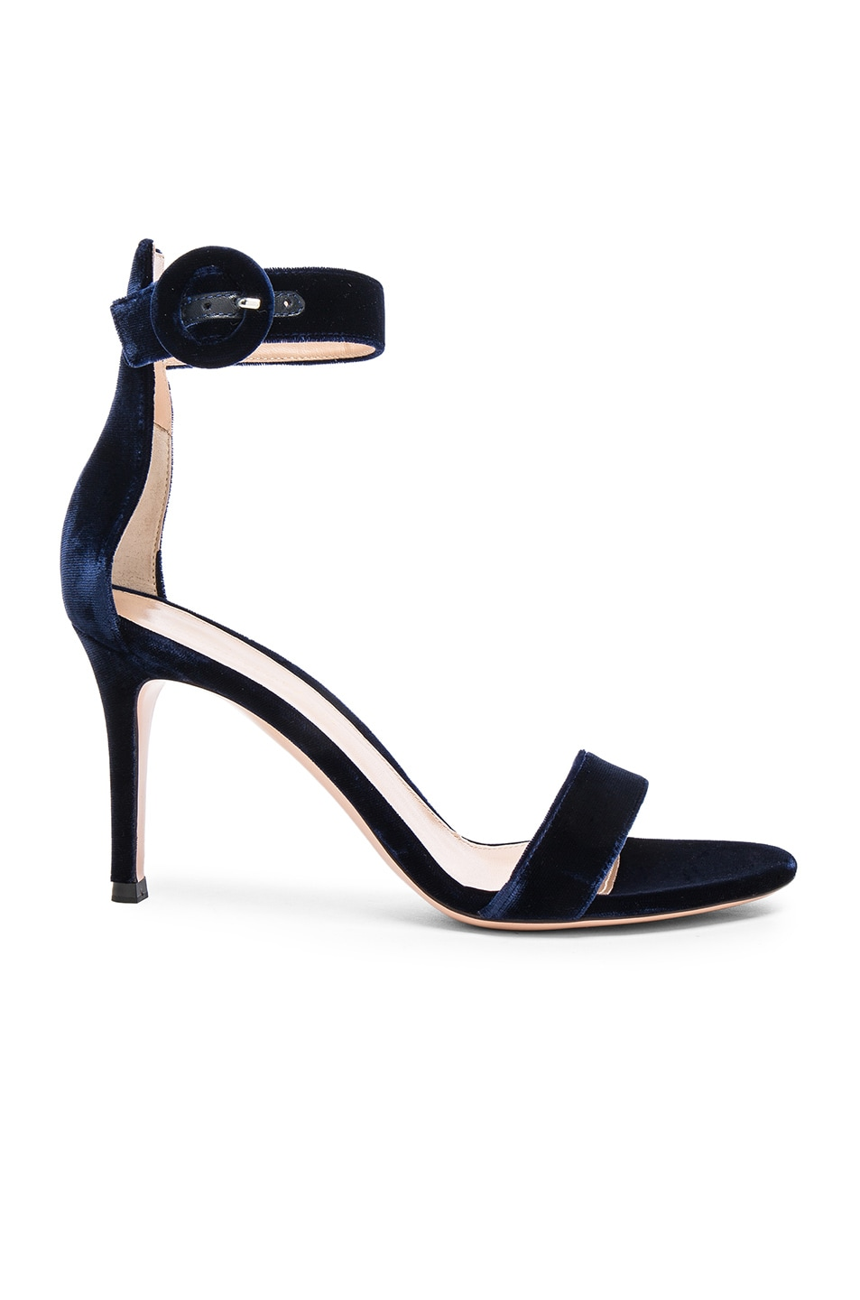 Gianvito Rossi For FWRD Velvet Portofino Heels in .