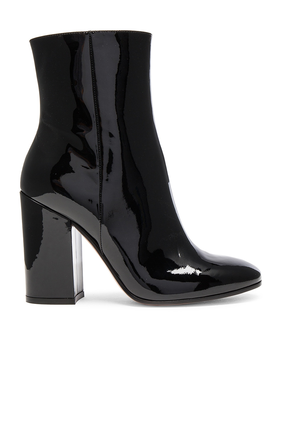 Image 1 of Gianvito Rossi Patent Leather Rolling High Booties in Black