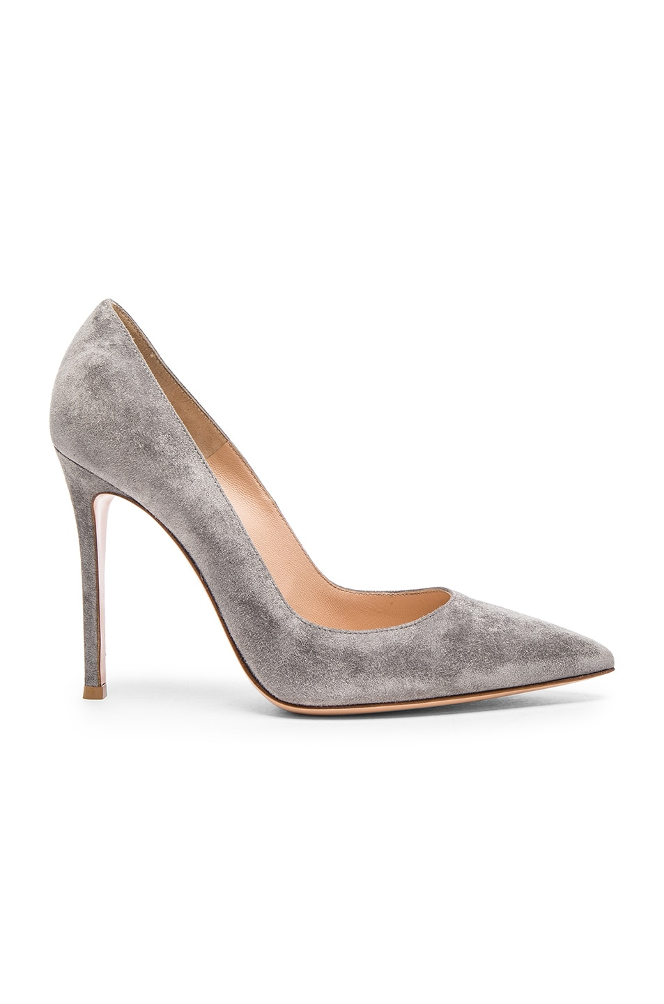 Image 1 of Gianvito Rossi Suede Gianvito Pumps in Fumo