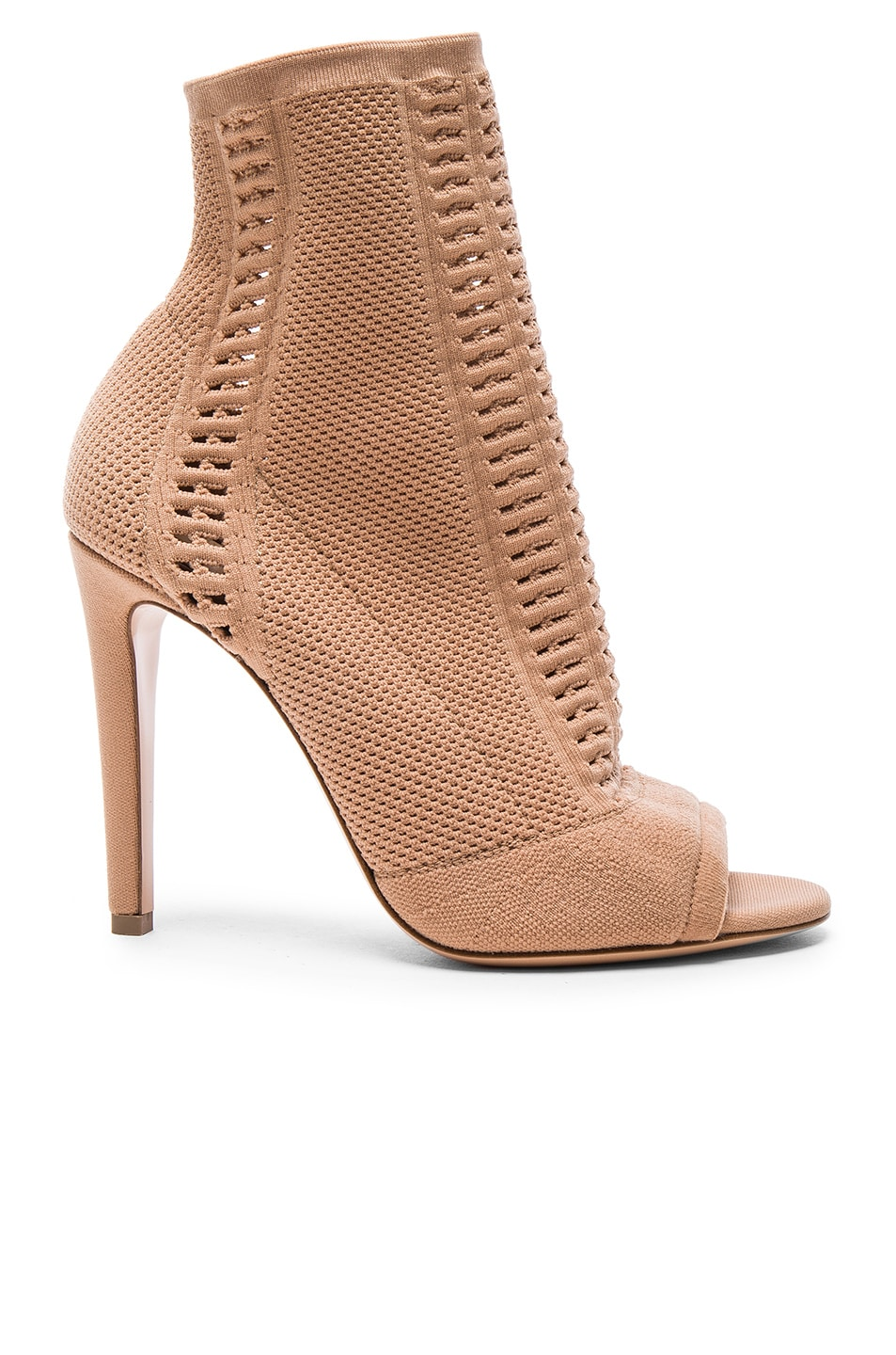 Image 1 of Gianvito Rossi Knit Vires Booties in Praline