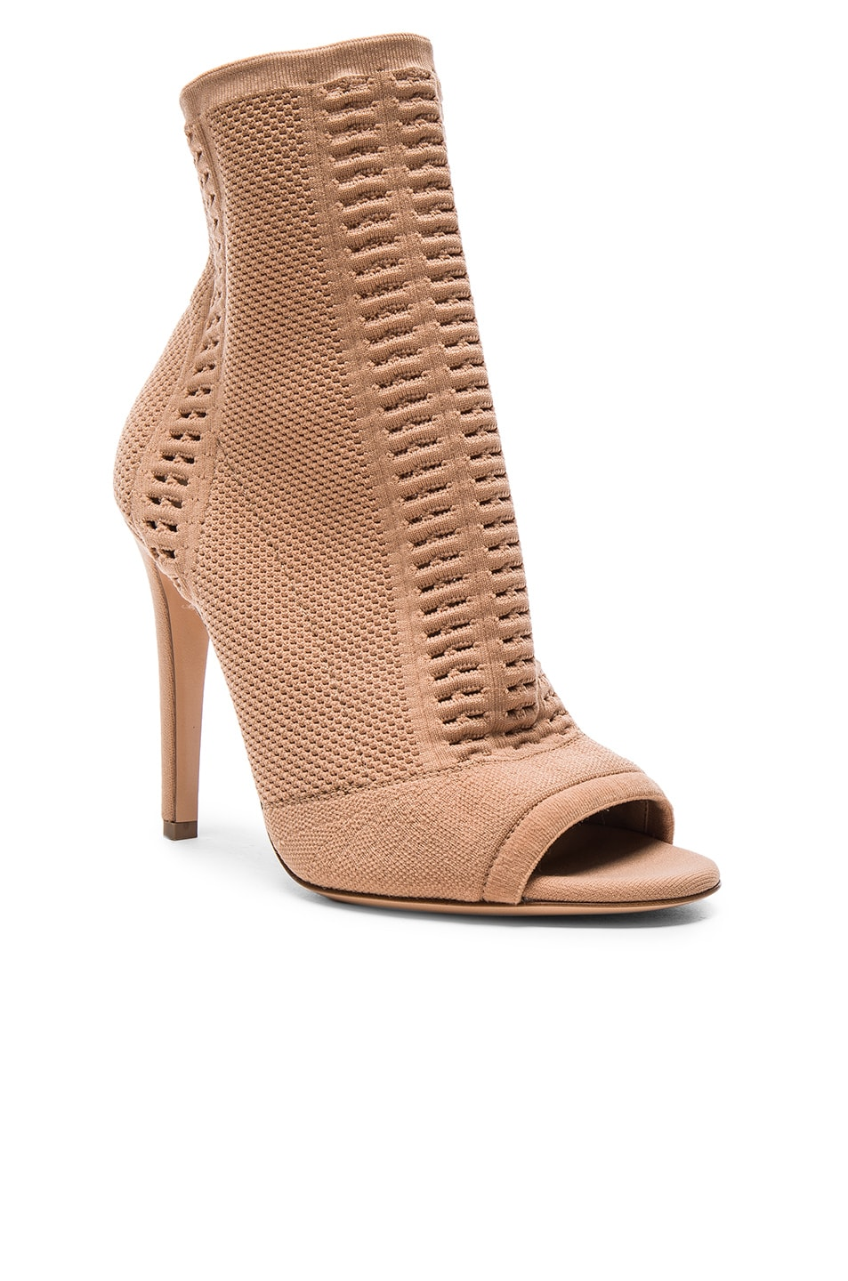 Image 2 of Gianvito Rossi Knit Vires Booties in Praline