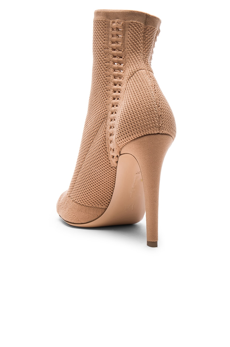 Image 3 of Gianvito Rossi Knit Vires Booties in Praline