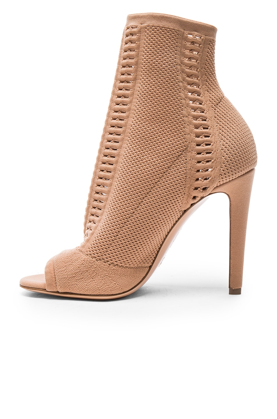 Image 5 of Gianvito Rossi Knit Vires Booties in Praline