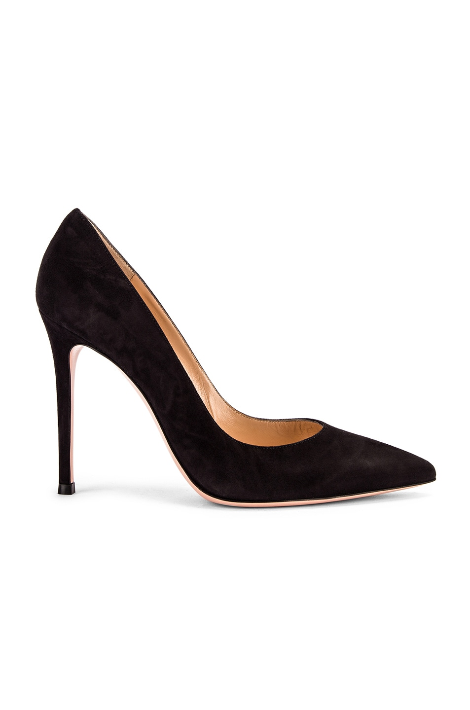 Image 1 of Gianvito Rossi Suede Gianvito Pumps in Black