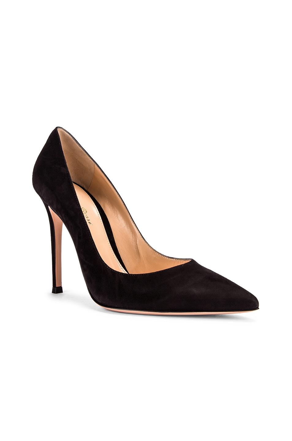 Image 2 of Gianvito Rossi Suede Gianvito Pumps in Black