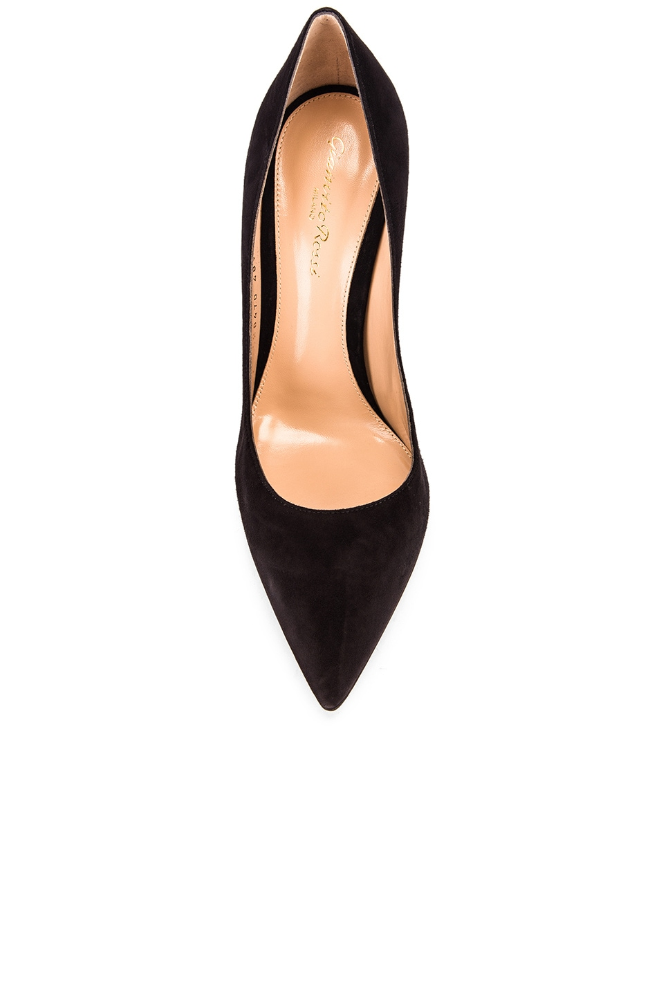 Image 4 of Gianvito Rossi Suede Gianvito Pumps in Black