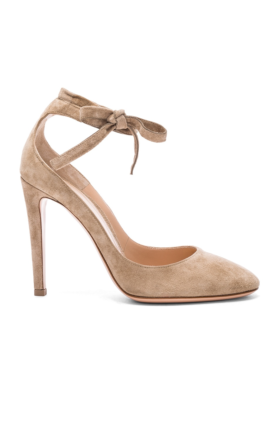 Image 1 of Gianvito Rossi Suede Carla Pumps in Bisque
