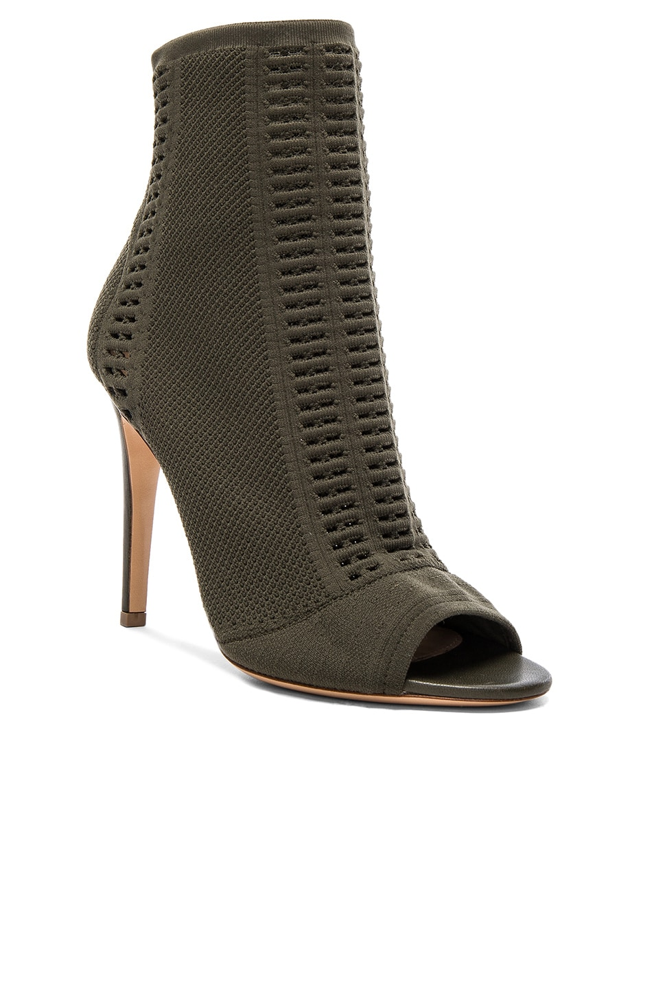 Image 2 of Gianvito Rossi Knit Vires Booties in Army