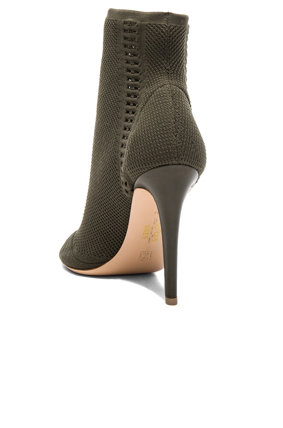 Image 3 of Gianvito Rossi Knit Vires Booties in Army