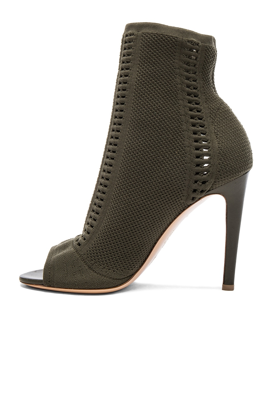 Image 5 of Gianvito Rossi Knit Vires Booties in Army