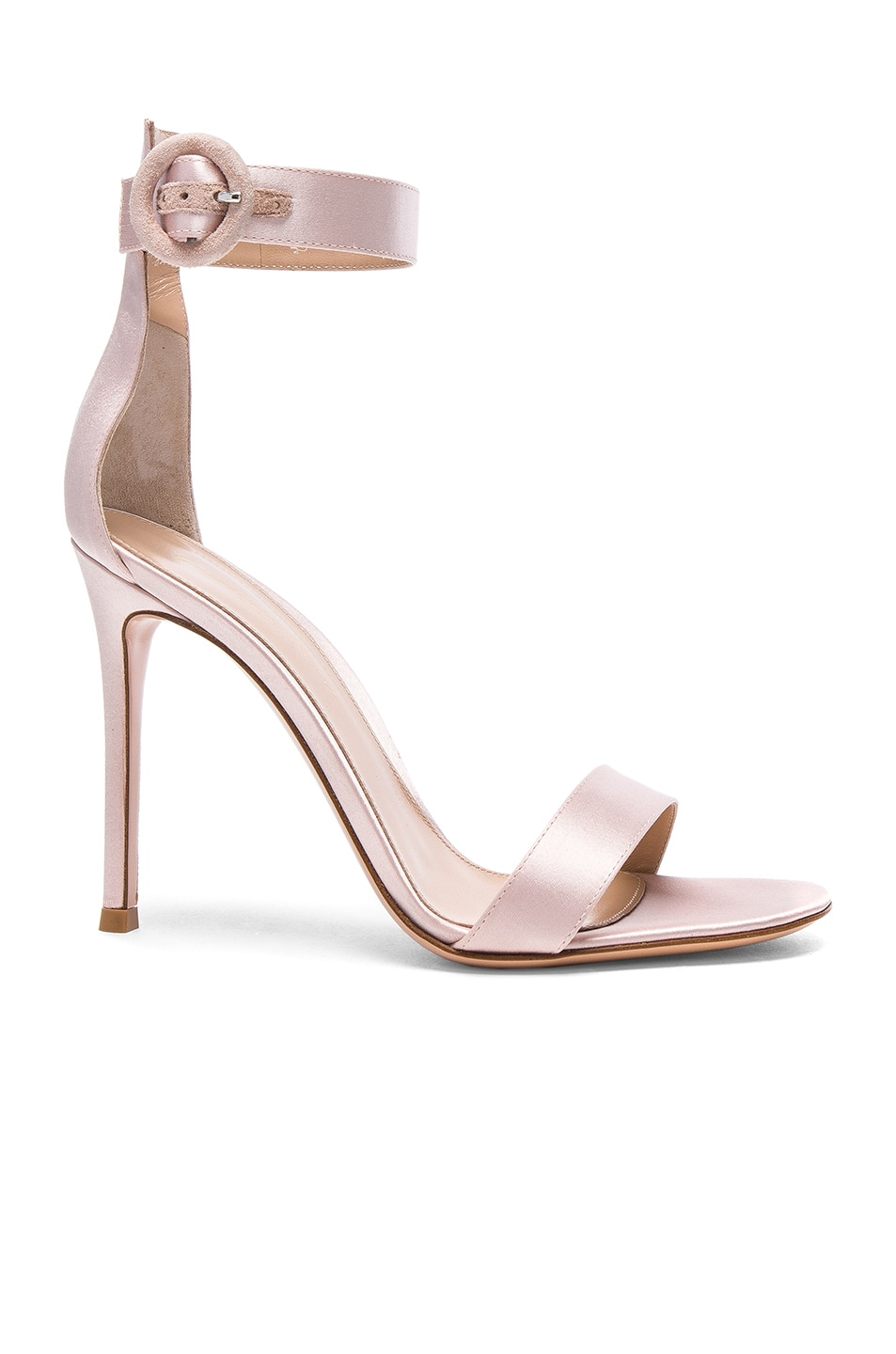 Image 1 of Gianvito Rossi Satin Portofino Heels in Rosa