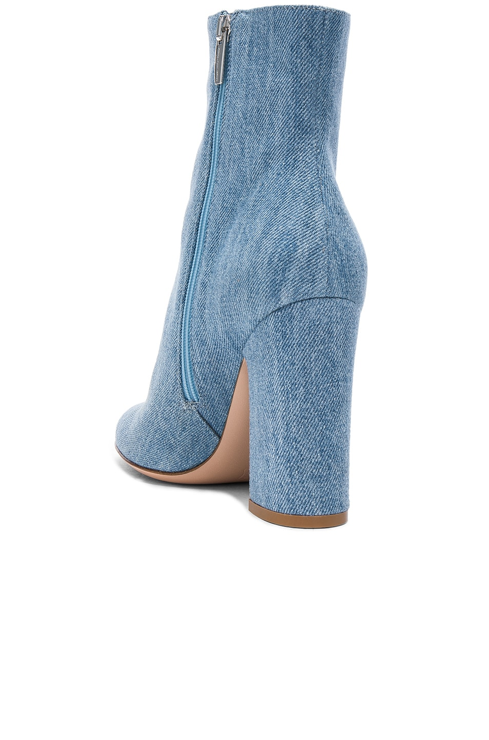 Image 3 of Gianvito Rossi Denim Shelly Booties in Stonewash