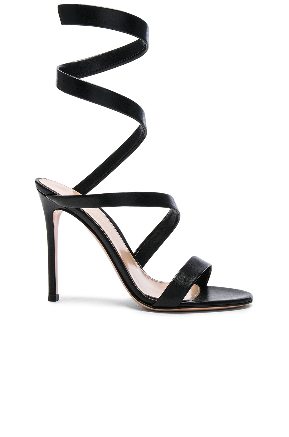 Image 1 of Gianvito Rossi Leather Opera Sandals in Black
