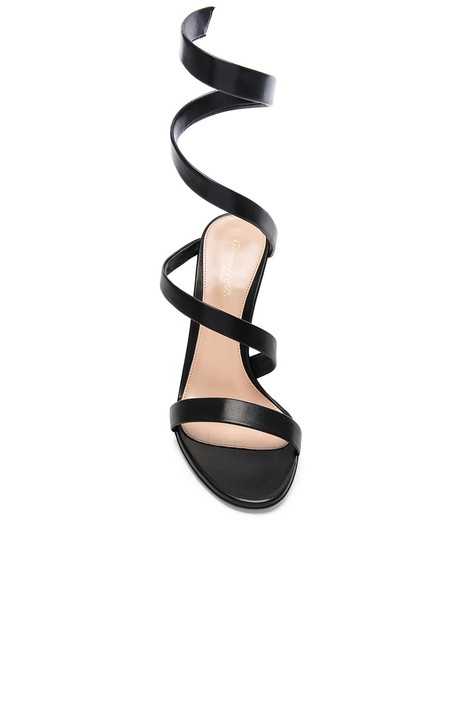 Image 4 of Gianvito Rossi Leather Opera Sandals in Black