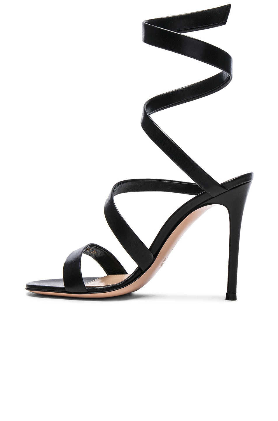 Image 5 of Gianvito Rossi Leather Opera Sandals in Black
