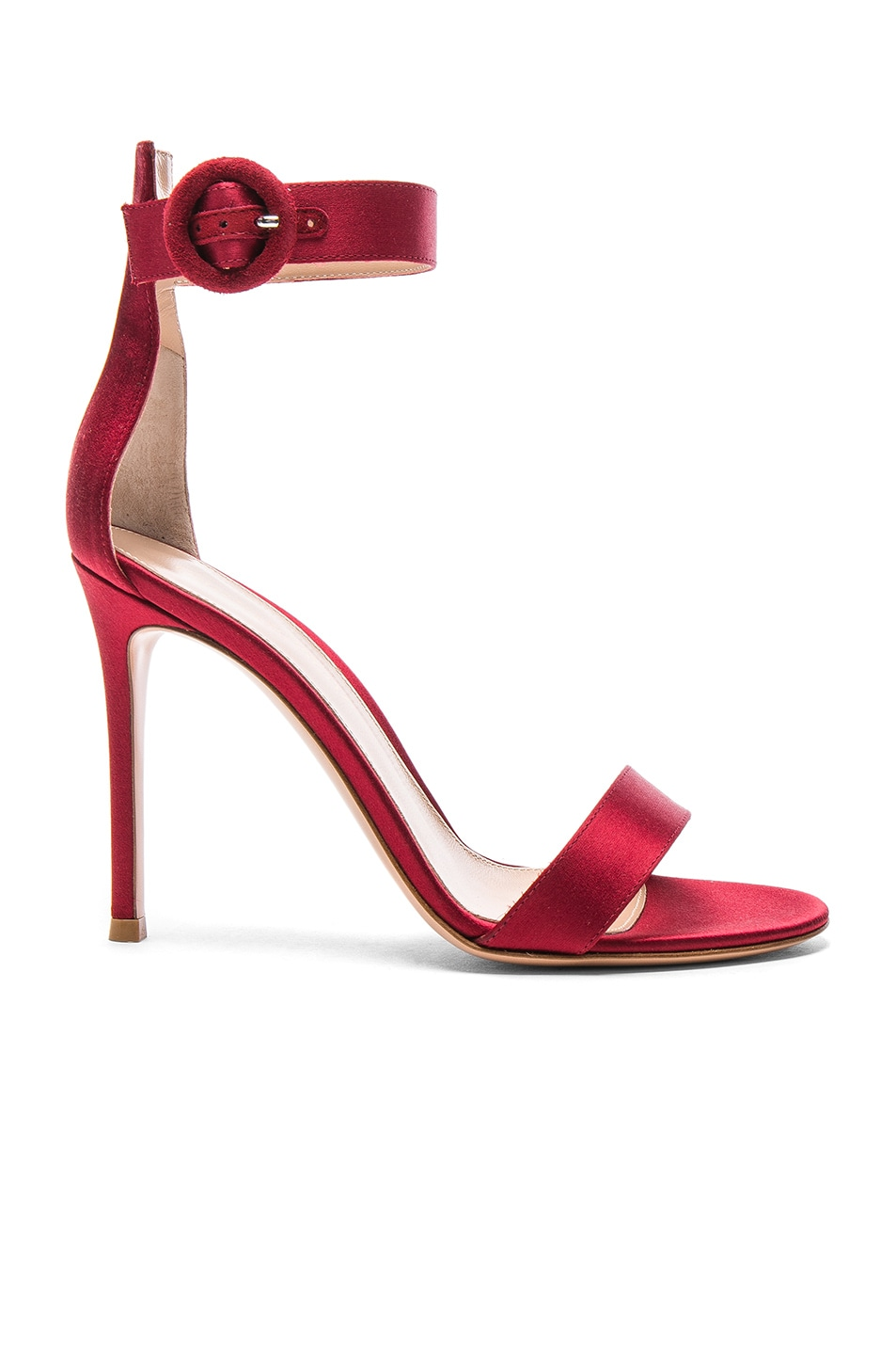 Image 1 of Gianvito Rossi Satin Portofino Heels in Granata