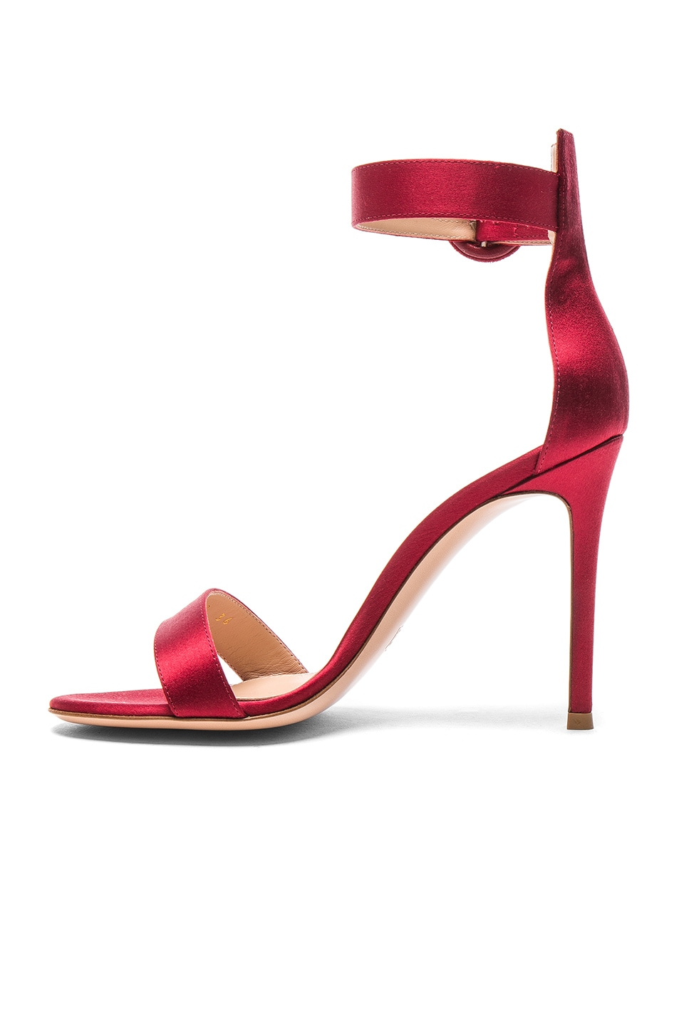 Image 5 of Gianvito Rossi Satin Portofino Heels in Granata