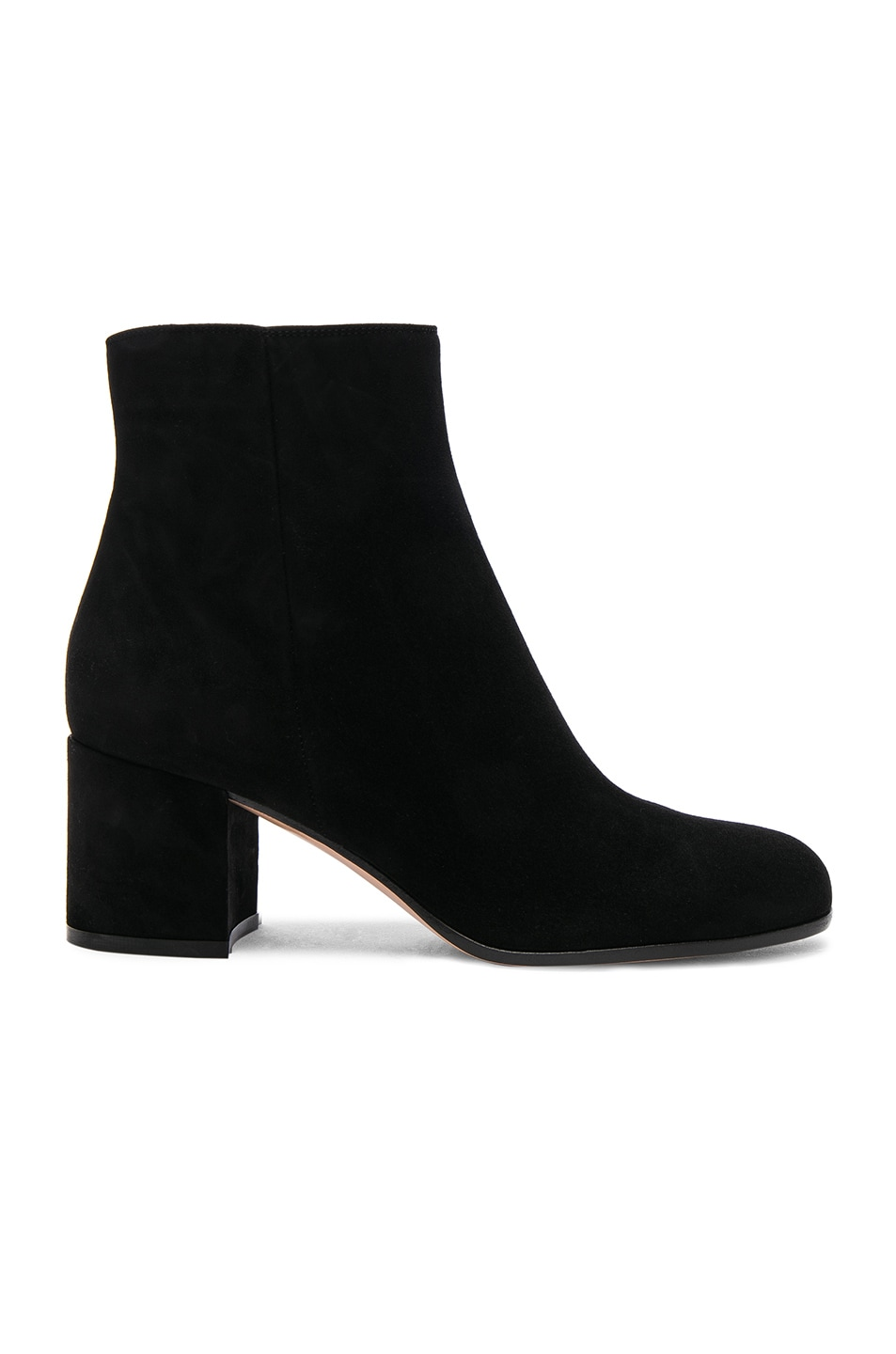 Image 1 of Gianvito Rossi Suede Margaux Booties in Black