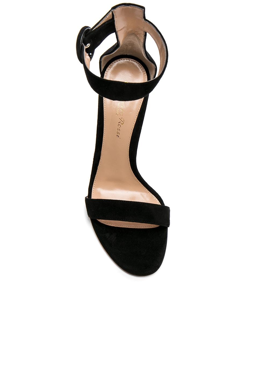 Image 4 of Gianvito Rossi Suede Portofino Heels in Black