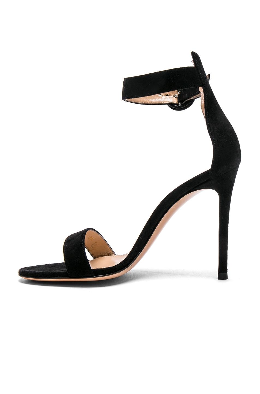 Image 5 of Gianvito Rossi Suede Portofino Heels in Black