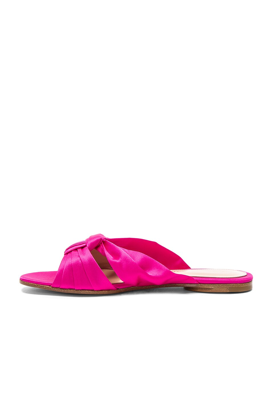 Image 5 of Gianvito Rossi Satin Blair Knot Sandals in Fuchsia