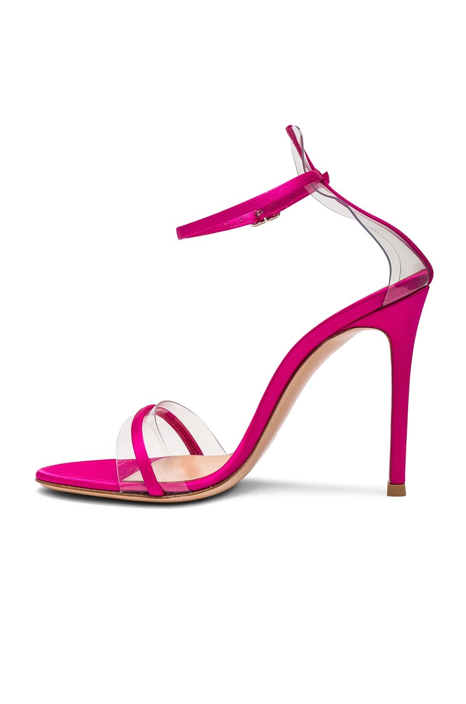 Gianvito Rossi Satin Plexi G String Heels in Fuchsia & Transparent Low Price Fee Shipping Popular And Cheap From China Discount Cheap Online 4XYN72KKMb