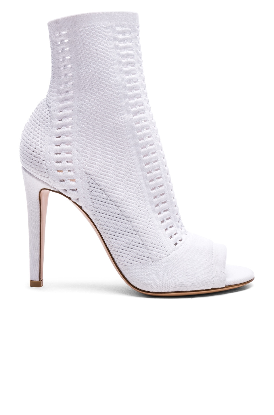 Image 1 of Gianvito Rossi Knit Vires Booties in White