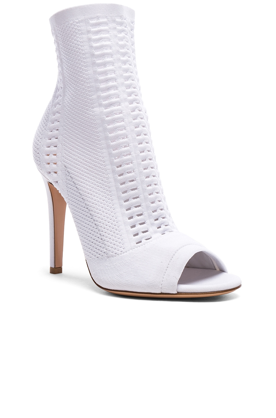 Image 2 of Gianvito Rossi Knit Vires Booties in White