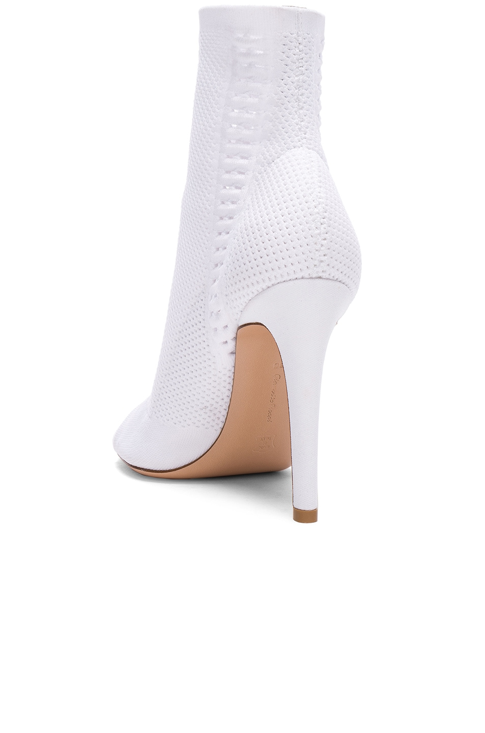Image 3 of Gianvito Rossi Knit Vires Booties in White