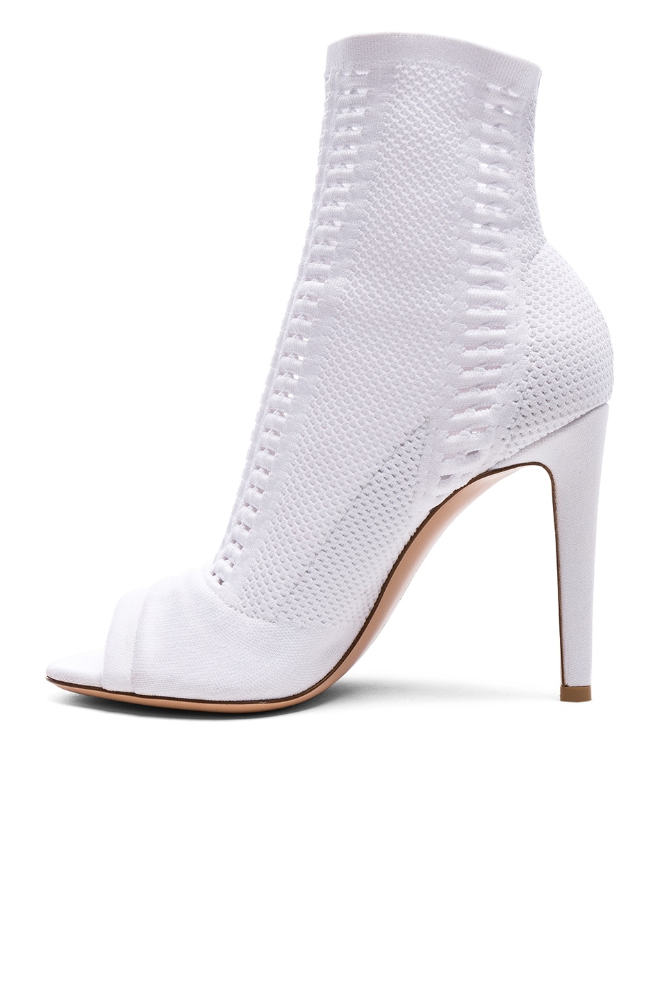 Image 5 of Gianvito Rossi Knit Vires Booties in White