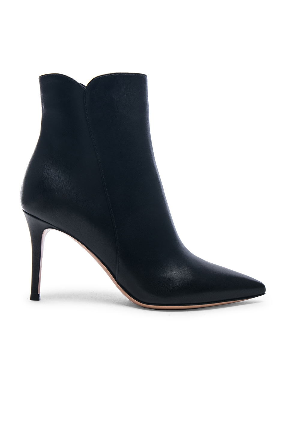 Image 1 of Gianvito Rossi Nappa Leather Levy 85 Ankle Boots in Black