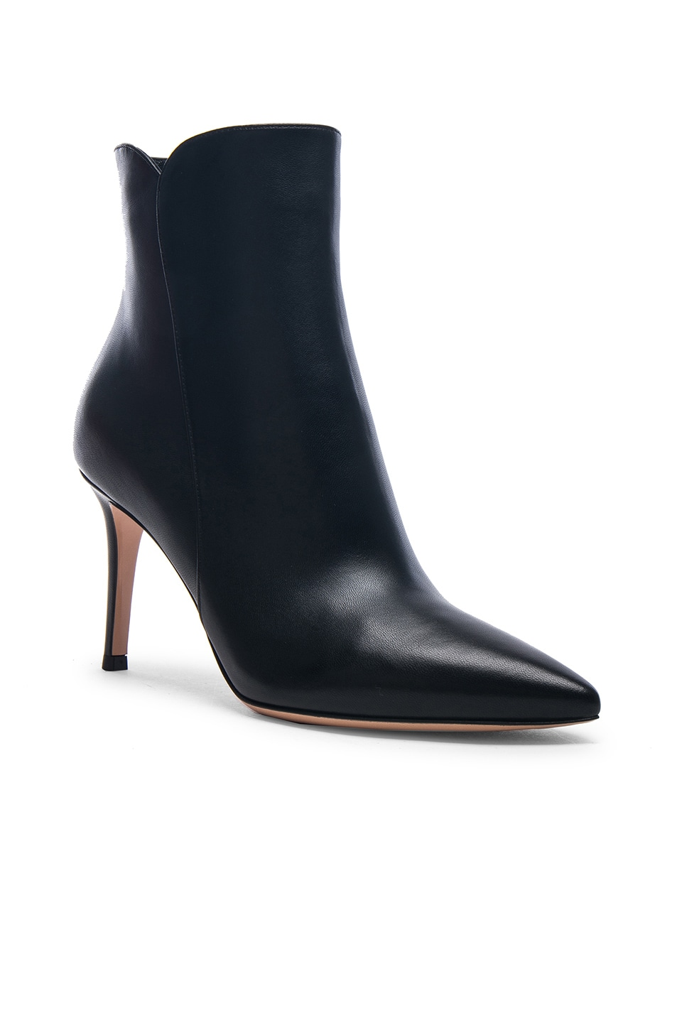 Image 2 of Gianvito Rossi Nappa Leather Levy 85 Ankle Boots in Black