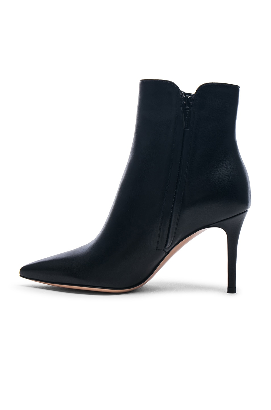 Image 5 of Gianvito Rossi Nappa Leather Levy 85 Ankle Boots in Black