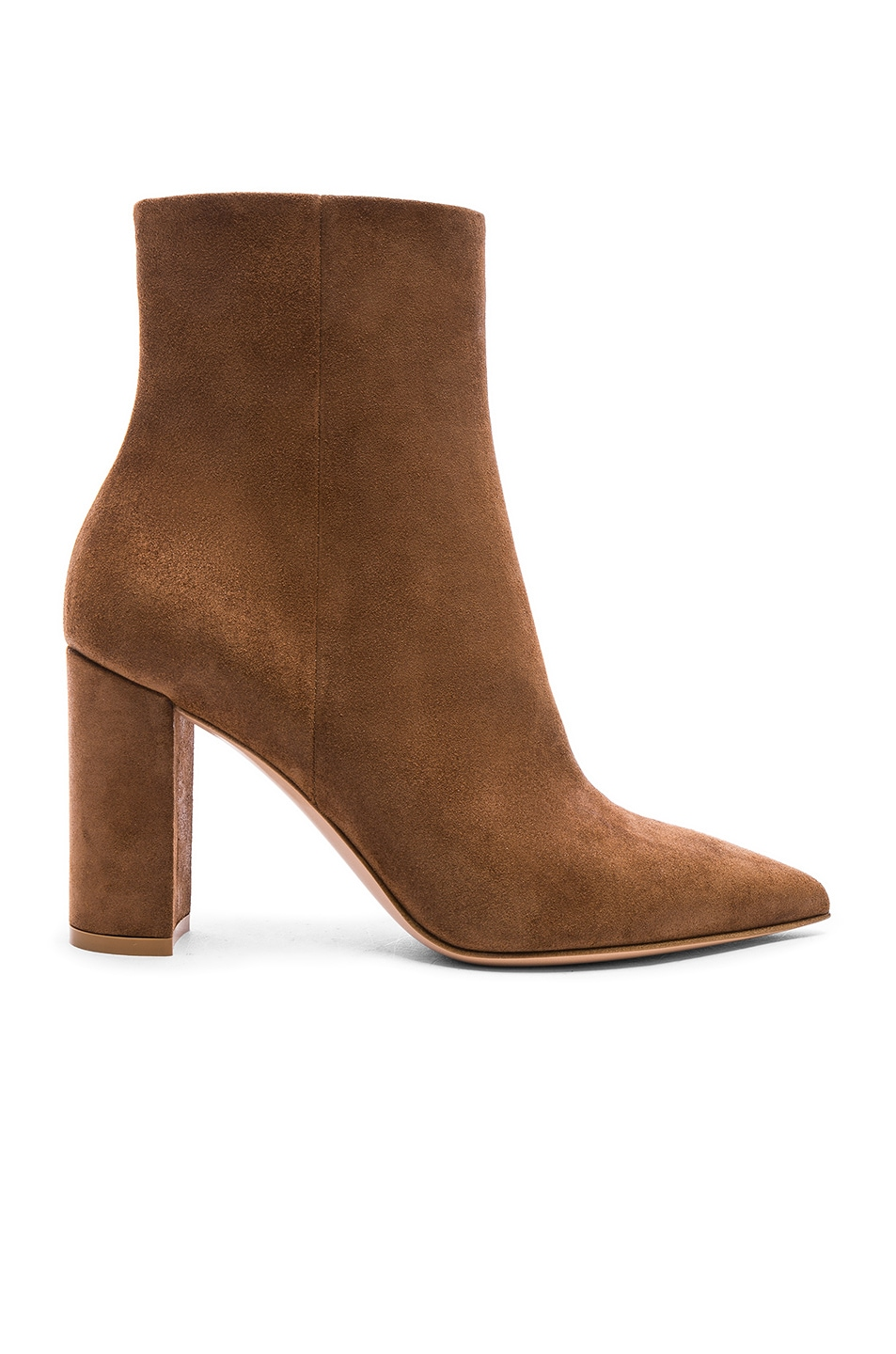 Image 1 of Gianvito Rossi Suede Piper Ankle Boots in Texas
